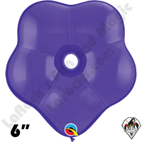 6 Inch Geo Blossom Purple Violet Qualatex 50ct