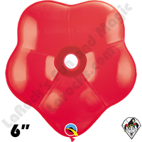 6 Inch Geo Blossom Standard Red Balloon Qualatex 50ct