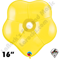 16 Inch Geo Blossom Standard Yellow Balloon Qualatex 25ct