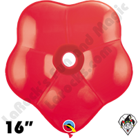 16 Inch Geo Blossom Standard Red Balloon Qualatex 25ct