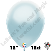 12 Inch Round Pearl Baby Blue Balloon Funsational 12ct