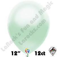 12 Inch Round Pearl Mint Green Balloon Funsational 12ct