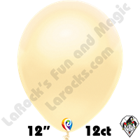 12 Inch Round Pearl Ivory Balloon Funsational 12ct