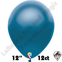 12 Inch Round Pearl Blue Balloon Funsational 12ct