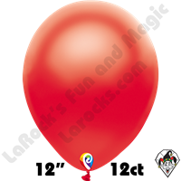 12 Inch Round Pearl Red Balloon Funsational 12ct