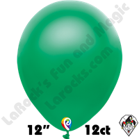 12 Inch Round Pearl Green Balloon Funsational 12ct