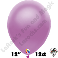 12 Inch Round Pearl Purple Balloon Funsational 12ct
