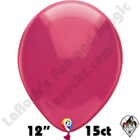 12 Inch Round Crystal Fuchsia Balloon Funsational 15ct
