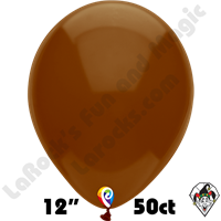 12 Inch Round Standard Cocoa Brown Balloon Funsational 50ct