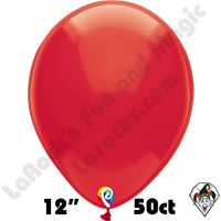 12 Inch Round Crystal Red Balloon Funsational 50ct