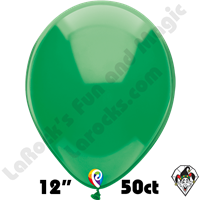 12 Inch Round Crystal Green Balloon Funsational 50ct