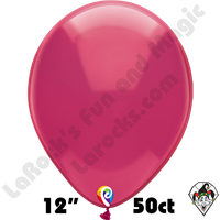 12 Inch Round Crystal Fuchsia Balloon Funsational 50ct