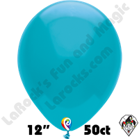 12 Inch Round Pastel Turquoise Balloon Funsational 50ct
