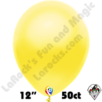 12 Inch Round Pearl Yellow Balloon Funsational 50ct
