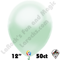 12 Inch Round Pearl Mint Green Balloon Funsational 50ct