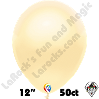 12 Inch Round Pearl Ivory Balloon Funsational 50ct