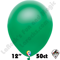 12 Inch Round Pearl Green Balloon Funsational 50ct