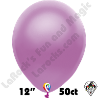 12 Inch Round Pearl Purple Balloon Funsational 50ct