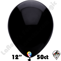 12 Inch Round Pearl Black Balloon Funsational 50ct