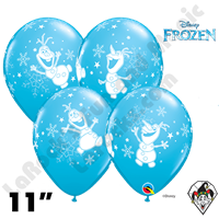 11 Inch Round Disney Frozen Olaf Dancing Qualatex 25ct