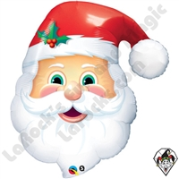 Qualatex 32 Inch Jolly St Nick Shape Foil Balloon 1ct