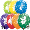 Qualatex 11 Inch Round Party Animals Assortment Balloons 50ct