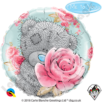 Qualatex 18 Inch Round Me To You - Tatty Teddy Birthday Roses Foil Balloon 1ct