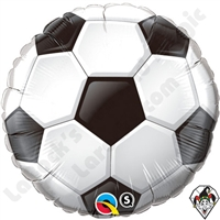 Qualatex 36 Inch Round Soccer Ball Foil Balloon 1ct