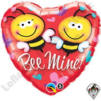 18 Inch Heart Bee Mine! Foil Balloon Qualatex 1ct