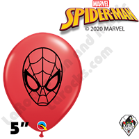 Qualatex 5 Inch Round Spiderman Face Balloons