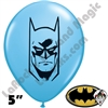 Qualatex 5 Inch Round Batman Pale Blue Balloons 100ct