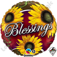 18 Inch Round Blessings Foil Balloon Qualatex 1ct.