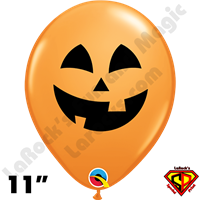 Qualatex 11 Inch Round Halloween Jack Balloons 50ct