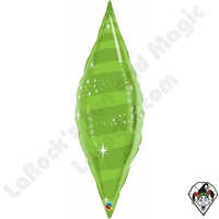 Qualatex 38 Inch Taper Swirl Lime Green Foil Balloon 1ct