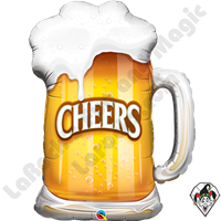 Qualatex 35 Inch Shape Cheers! Beer Mug Foil Balloon 1ct