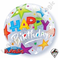 Bubble 22 Inch Birthday Brilliant Stars Qualatex 1ct