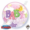 22 Inch Baby Girl Moons & Stars Bubble Qualatex