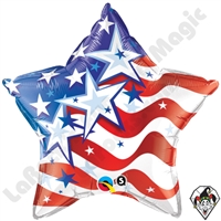 Qualatex 20 Inch Stars & Stripes Foil Balloon 1ct