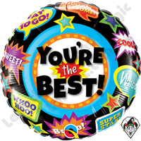 18 Inch Round You're The Best Accolades Foil Balloon Qualatex 1ct.