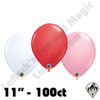 Qualatex 11 Inch Round Sweetheart Assortment Balloons 100ct