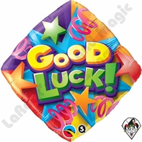 Qualatex 18 Inch Good Luck Stars & Streamers Foil Balloon 1ct
