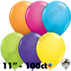 Qualatex  | Round Balloons | 11 Inch Round Tropical Assortment