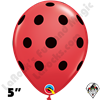 Qualatex 5 Inch Round Polka Dot Red Balloons 100ct