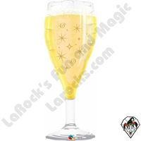 Qualatex 39 inch Bubbly Wine Glass Foil Balloon 1ct