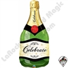 Qualatex 39 inch Bottle Celebrate Bubbly Wine Bottle Foil Balloon 1ct