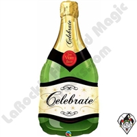 39 inch Bottle Celebrate Bubbly Wine Bottle Foil Qualatex Balloon 1ct