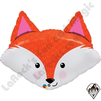 Qualatex 14 Inch Shape Fabulous Fox Foil Balloon 1ct