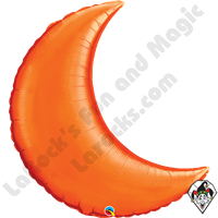 35 In Crescent Moon Orange Foil Balloon