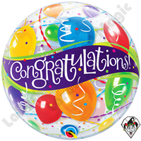 22 Inch Congratulations Balloons Bubble Qualatex 1ct