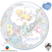 22 Inch Precious Moments Baby Shower Bubble Qualatex 1ct